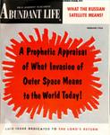 Abundant Life, Volume 12, No 2; Feb. 1958
