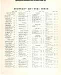 Abundant Life, Volume 19, Index; Dec. 1965