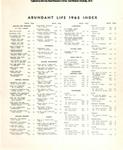 Abundant Life, Volume 19, Index; Dec. 1965