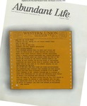Abundant Life, Volume 22, No 8; Aug. 1968