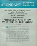 Abundant Life, Volume 24, No 10; Oct. 1970