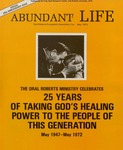 Abundant Life, Volume 26, No 5; May 1972