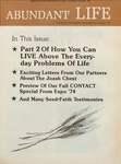 Abundant Life, Volume 28, No 8; Aug. 1974