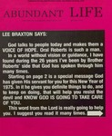 Abundant Life, Volume 29, No 1; Jan. 1975