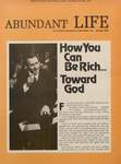 Abundant Life, Volume 30, No 1; Jan. 1976