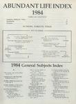 Abundant Life, Volume 38, Index, 1984